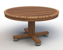 roung dining table 3d