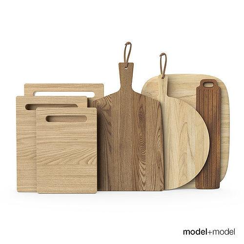 wooden chopping boards 3d model max obj mtl fbx 1