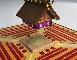 Sumo dojo arena stadium ring 3D model
