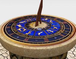 solar sundial clock time 3d model