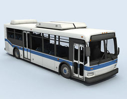 City Bus Vehicle 3D Model