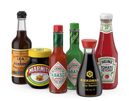 sauces set 3d