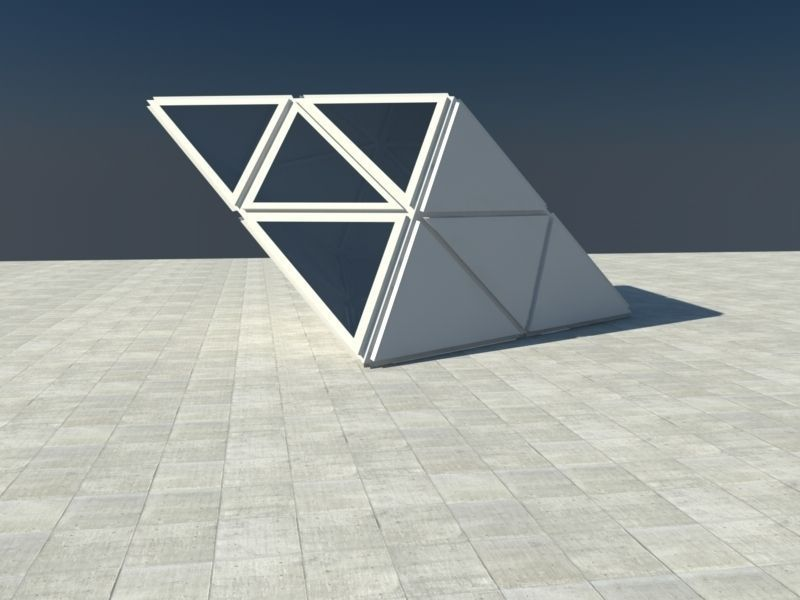 Triangle cube scene 3d model obj 3ds fbx c4d for Triangle concept architecture