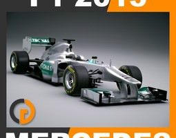 F1 2013 Mercedes W04 - Mercedes AMG Petronas F1 Team 3D Model