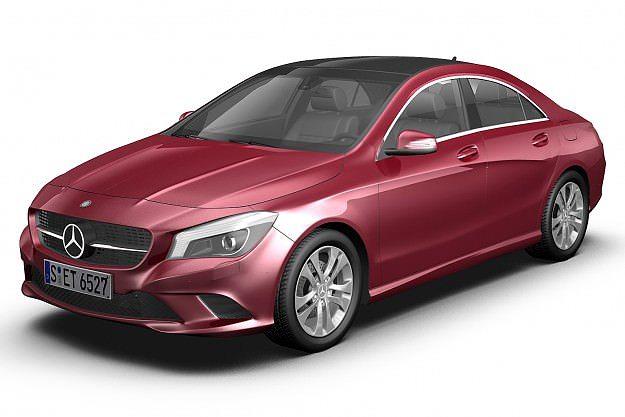 Beautiful 2013 Mercedes Benz CLA 3D Model