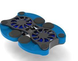 3d model foldable laptop cooling pad