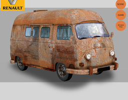 Renault Estafette Rust 3D Model