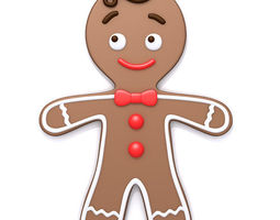 3D Gingerbread man