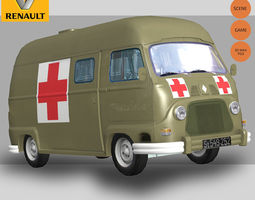 Renault Estafette Military 3D Model