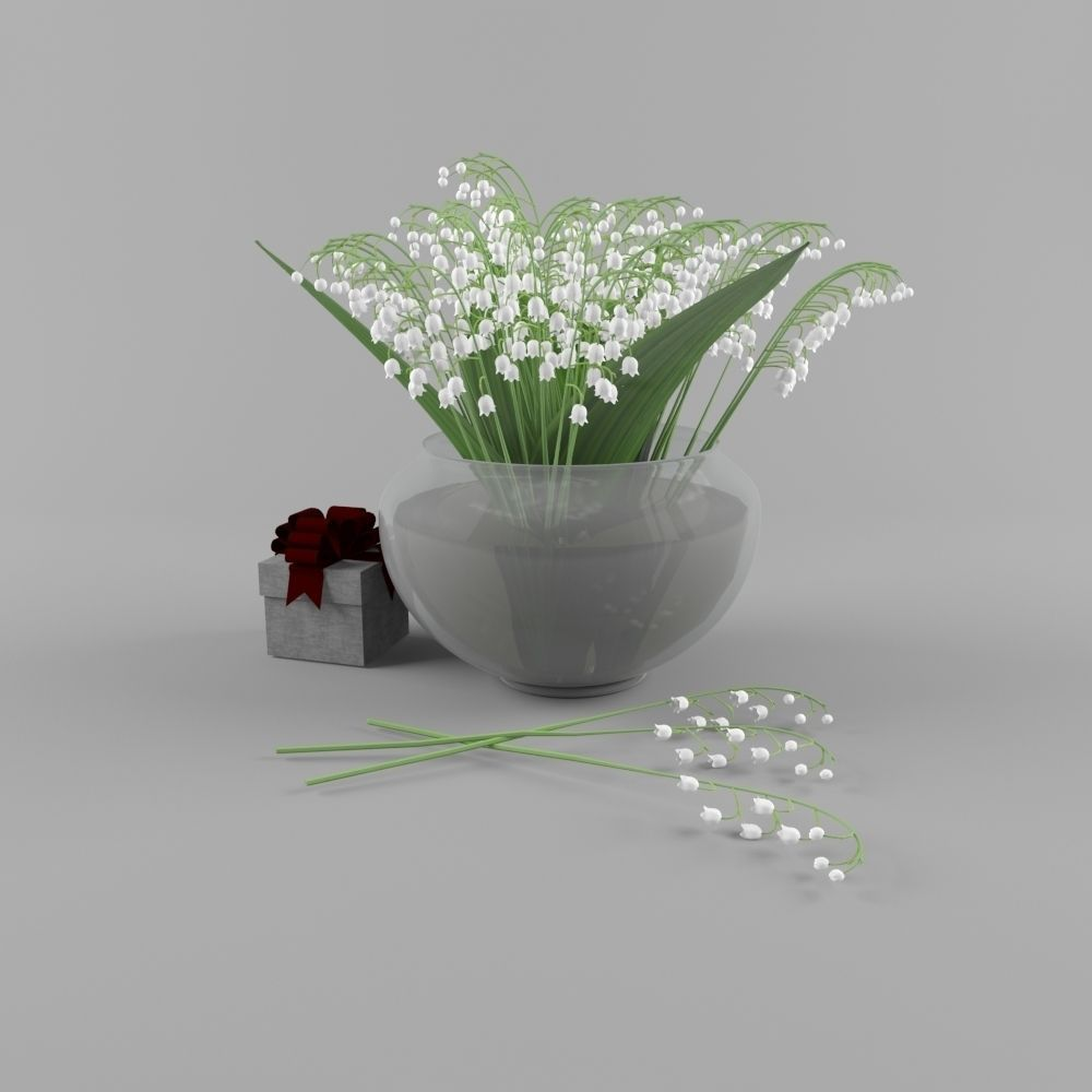 Lily of the valley 3d cgtrader lily of the valley 3d model max fbx 1 reviewsmspy