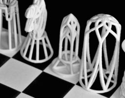 3d printing chessgame designed in barcelona 3d model stl