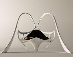 Futuristic armchair Bunny 3D