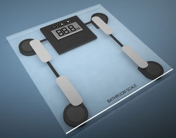 Bathroom weight scale 3D