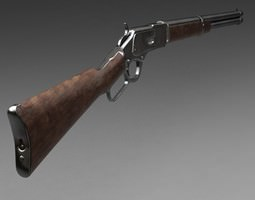 3D model Winchester carbine rifle 1873