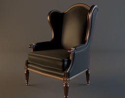 3D armchair classic 3