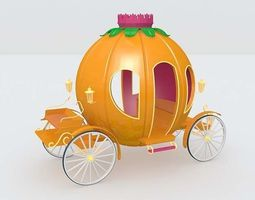 pumpkin cart  3d