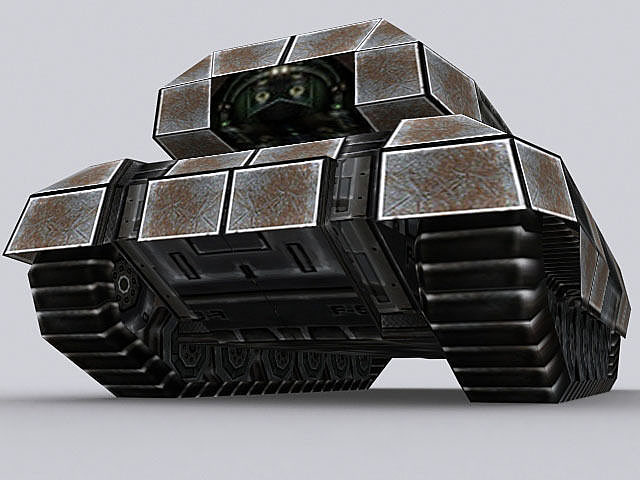 sci-fi tank t-04 3d model max 3ds fbx ma mb tga 1