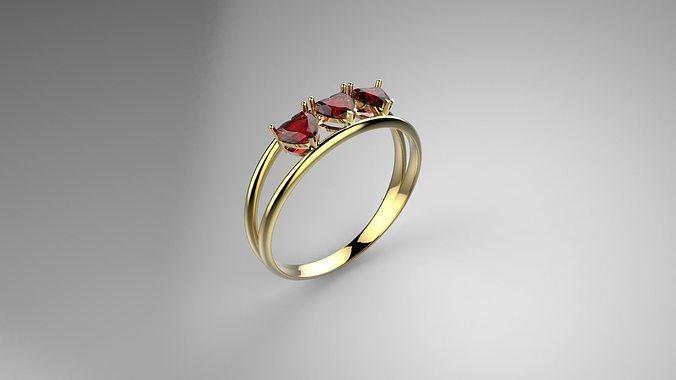 heart ring 3d model 3dm 1