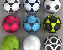 Set soccerball 3D model