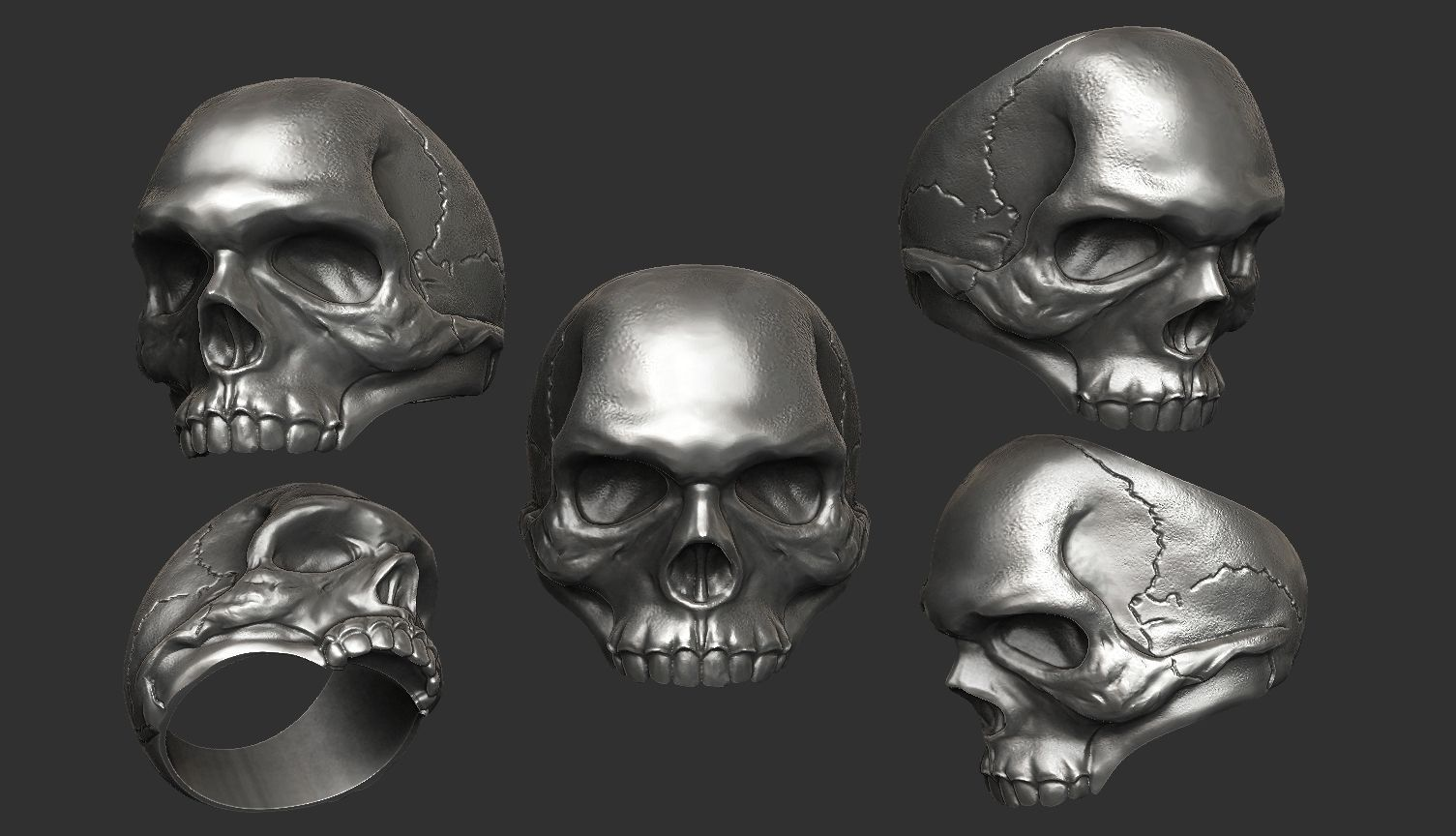 Skull Ring For Bikers 3d Print Model - free 3d models skull
