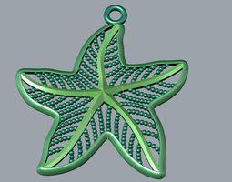 3d print model star pendant