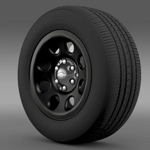 3D model Chevrolet Tahoe Police wheel | CGTrader
