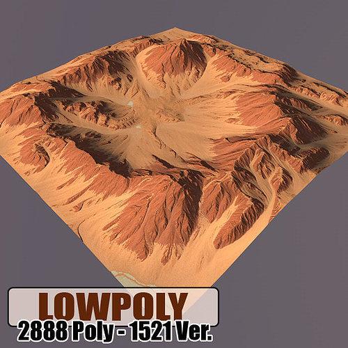 lowpoly mountain 3d model max obj mtl 3ds fbx c4d blend 1