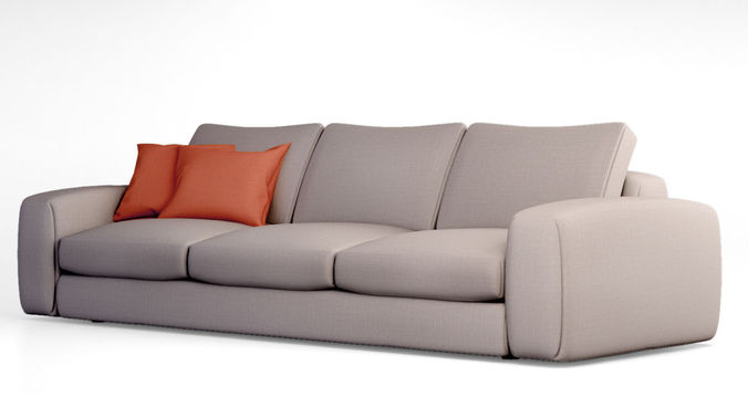 jardan hudson sofa 3d model max obj. Black Bedroom Furniture Sets. Home Design Ideas