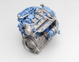 3D model Volkswagen New MAGOTAN engine