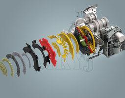 volkswagen new magotan gearbox 3d model max