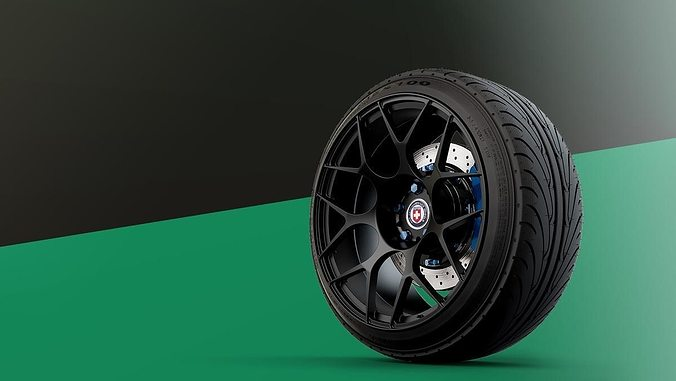 hre monoblock automotive -rim only- 3d model obj mtl fbx 1