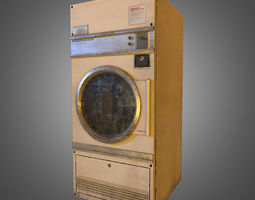 3D model Industrial Laundromat Dryer