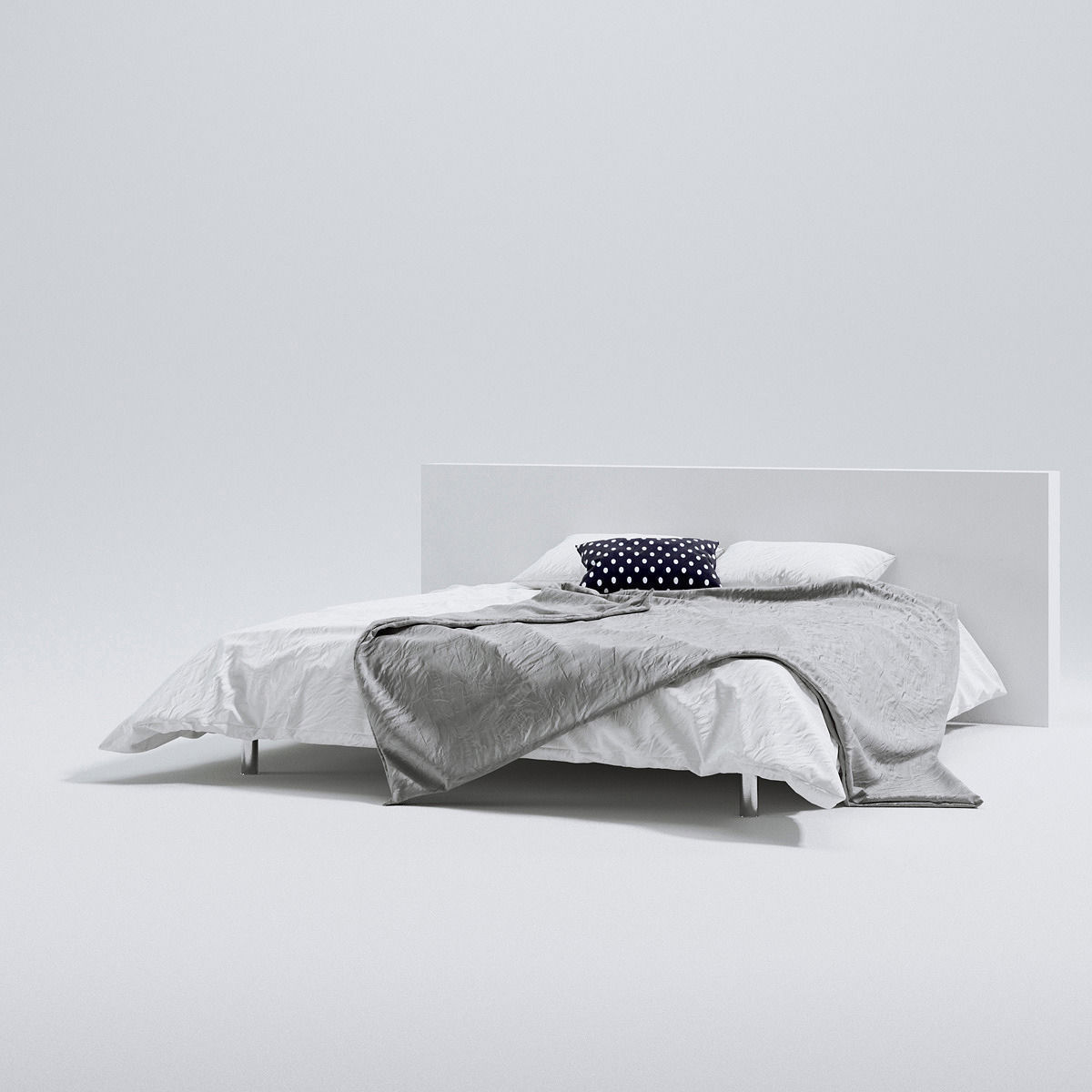 scandinavian bed 3d model max obj fbx c4d