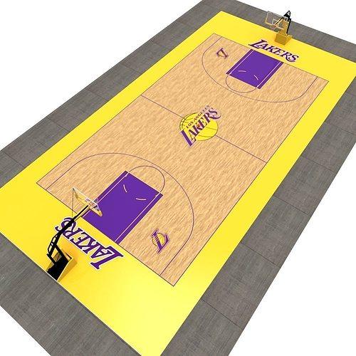 basketball court 3d model fbx 1
