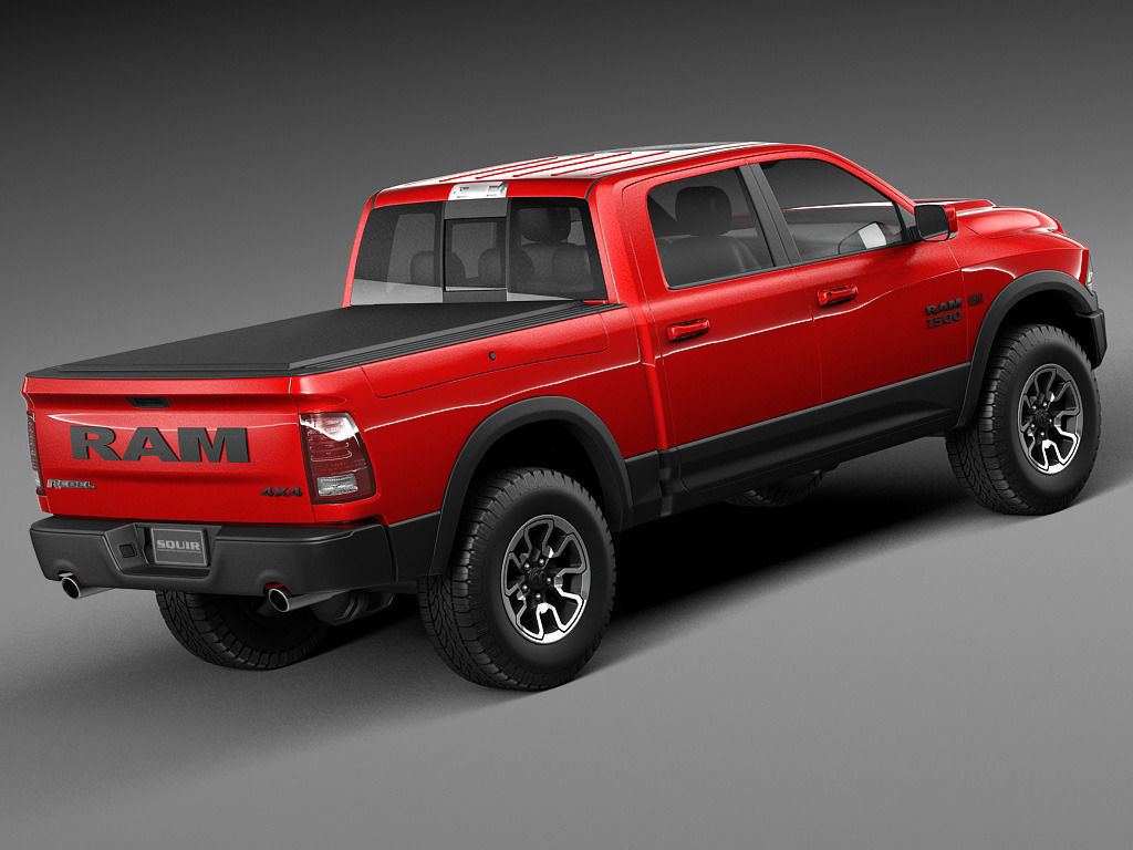 dodge ram 1500 rebel 2015 3d model max obj 3ds fbx c4d lwo lw lws. Black Bedroom Furniture Sets. Home Design Ideas