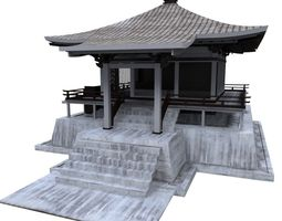 3d asset asian house game-ready