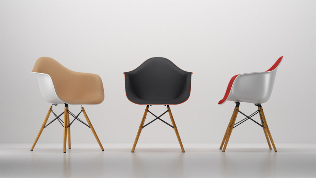 Vitra Eames plastic armchair 3D | CGTrader