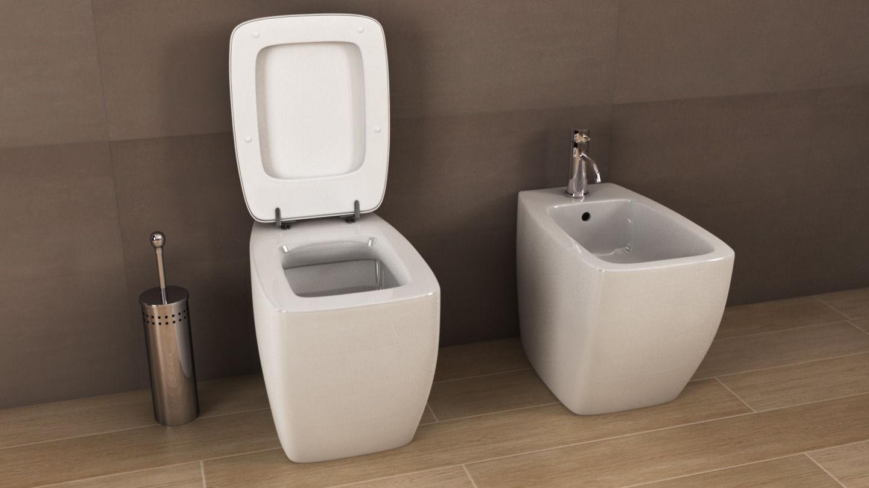 ideal standard 21 bidet 3d model c4d. Black Bedroom Furniture Sets. Home Design Ideas