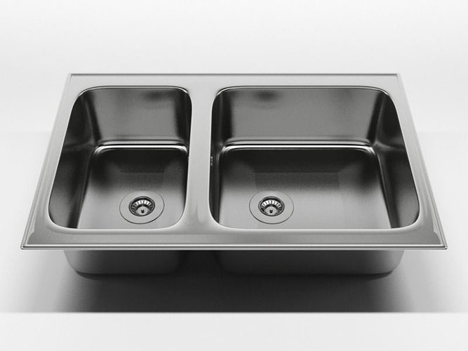 Nice Kitchen Sink 2 3D Model Idea