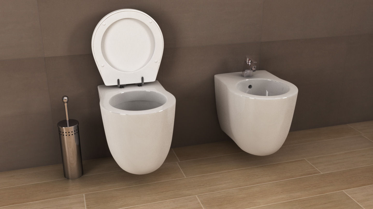 Ideal Standard Toilet : Ideal standard small plus toilet 3d cgtrader