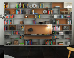 3D B and B bookcase 33 with books