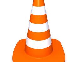 traffic cone 3d model max obj ma mb