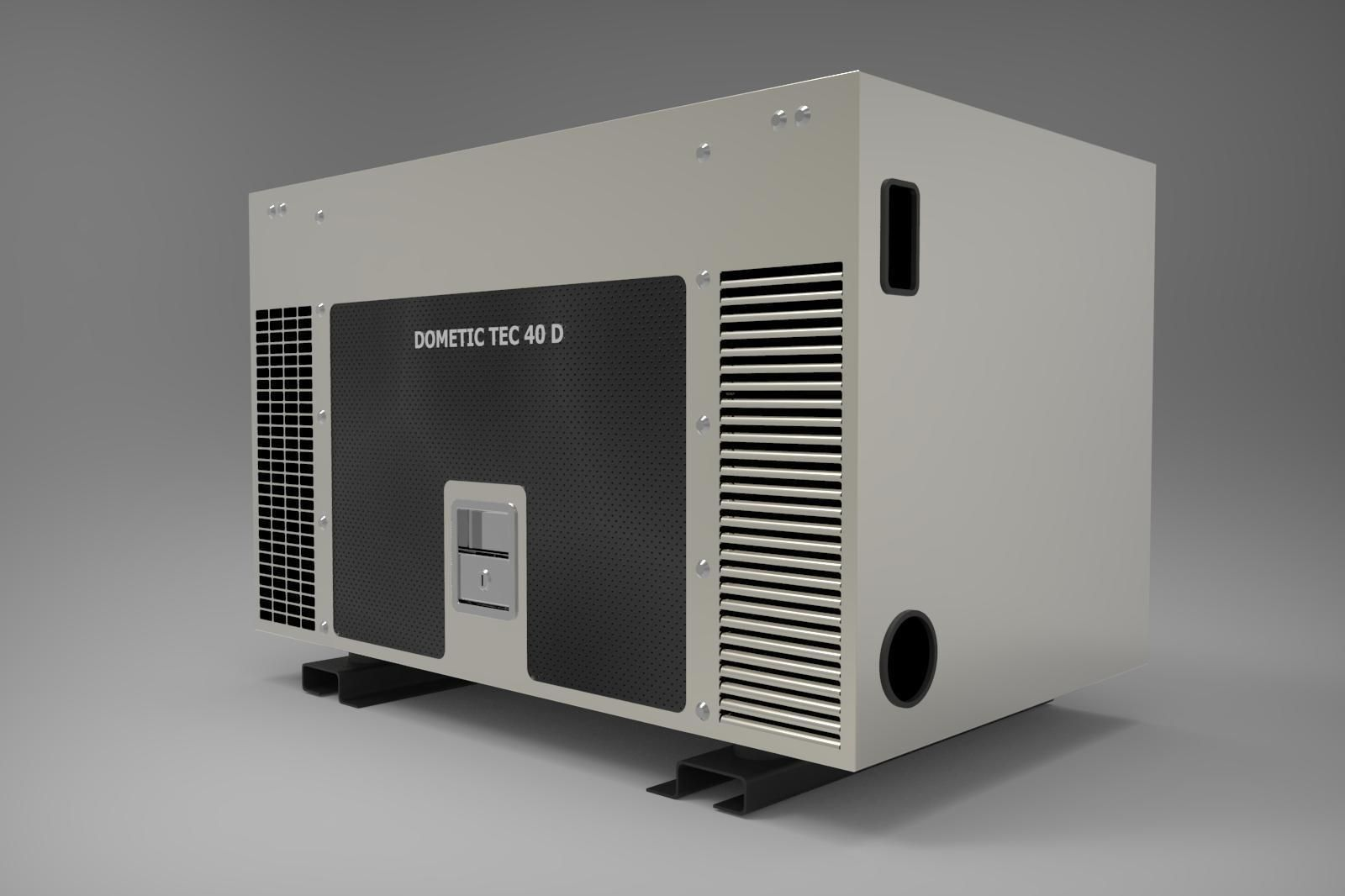 Generator Dometic For Motorhome 3d Model Max Fbx Sldprt