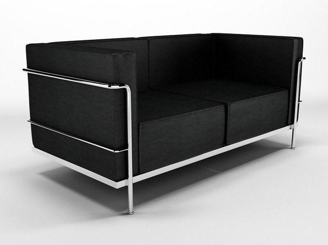 3d model le corbusier sofa n87 cgtrader