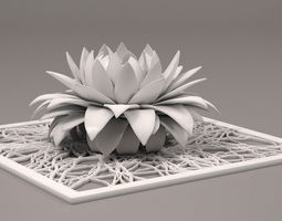 3D print model aster flower decor element STL
