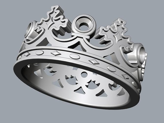 ring crown diameter 3d model 3d printable 3dm
