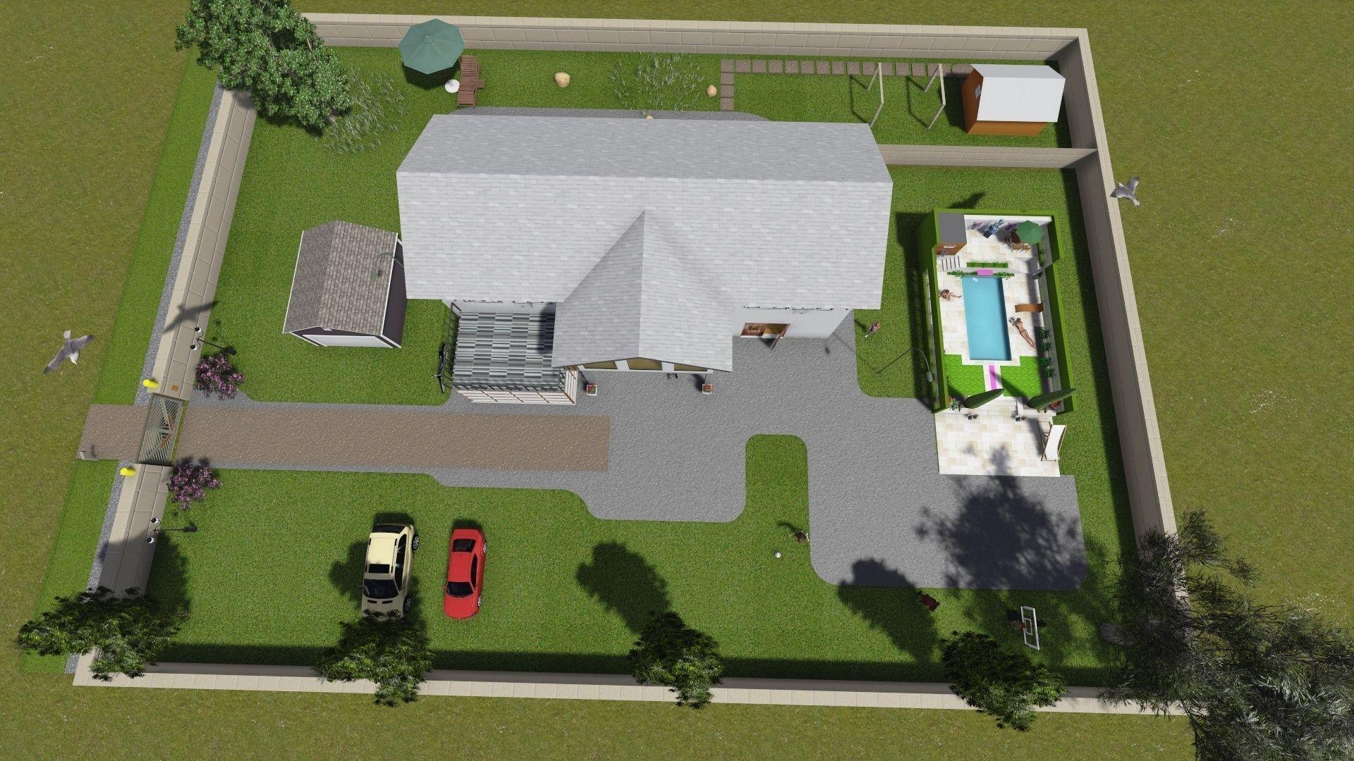 Simple house 3d model skp 17