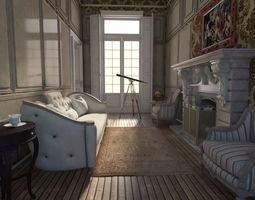 3D Neoclassical Apartment Interior