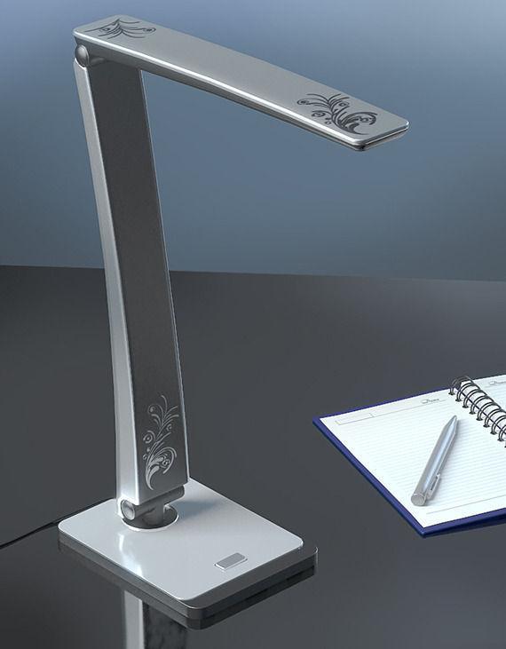 Gray modern table lamp 3D | CGTrader