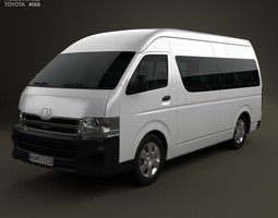 toyota hiace super long wheel base 2012 3d